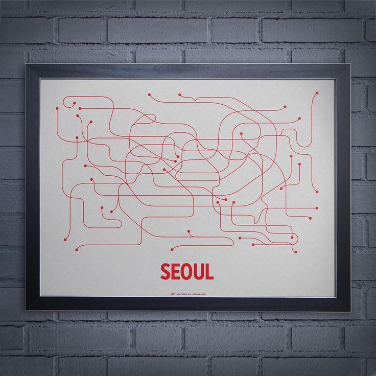 Lineposters.com Seoul subway map