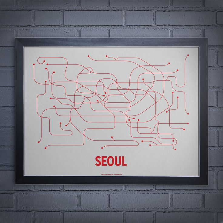 Lineposters.com Seoul subway map