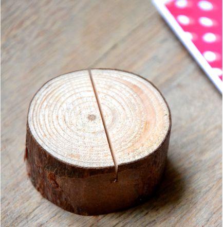 Socle en bois (rondin de bois) pour présenter vos photos.