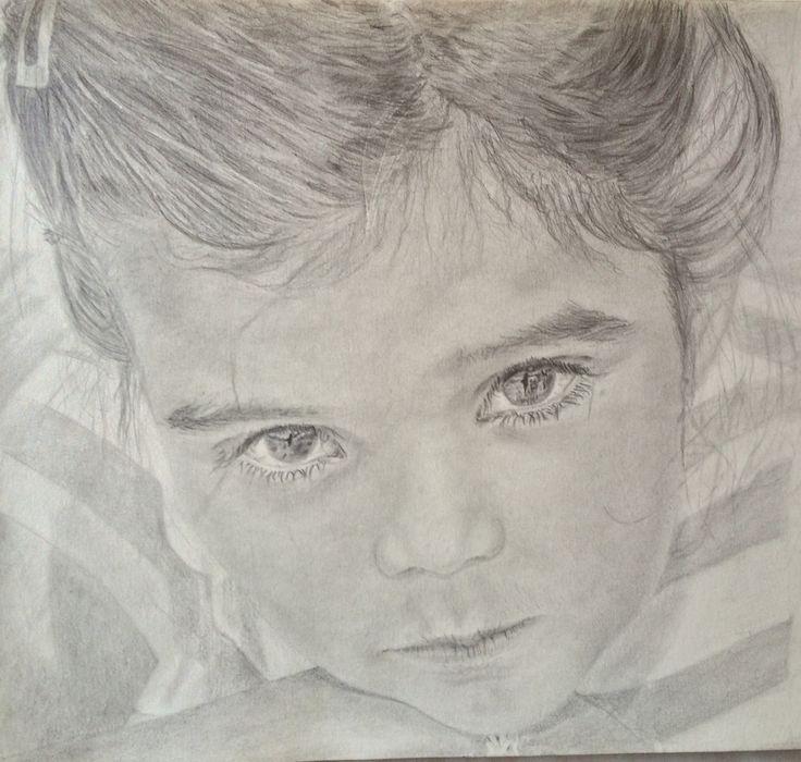 retrato personalizado 11,69 x 16,54 pulgadas (29,7 x 42 cm) / retrato de niño / retratos del animal doméstico. de ElDonDeNoSaberArt en Etsy