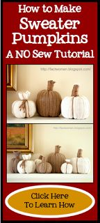 How to make No Sew Pumpkins from Sweaters- Sweater Pumpkins- A Tutorial