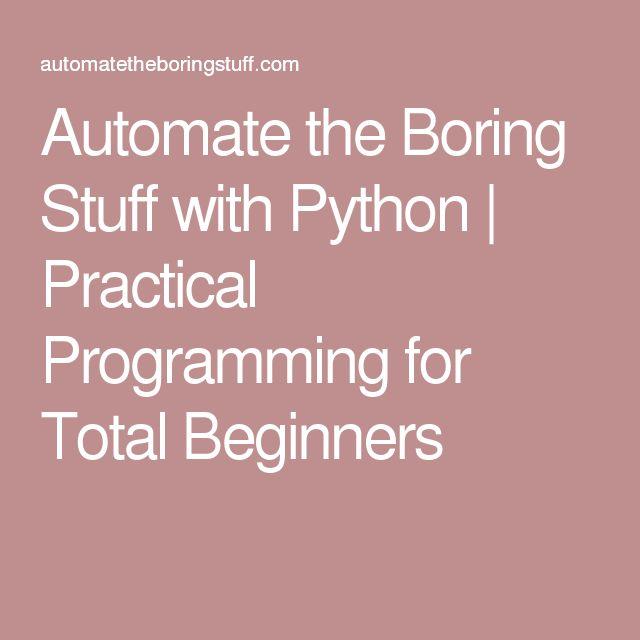 automate the boring stuff