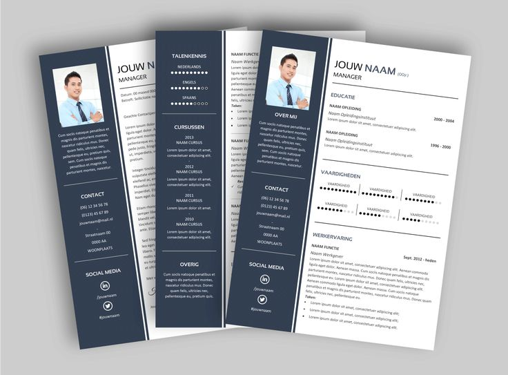 72 best CV templates van MooiCV images on Pinterest | Cv resume