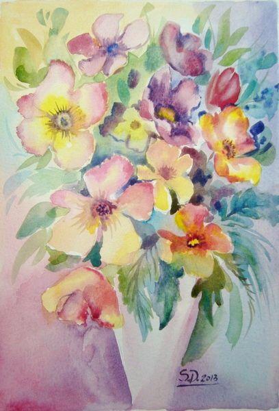 Flowers- watercolor, 21/15 cm, 2013, Derecichei Simona Mihaela