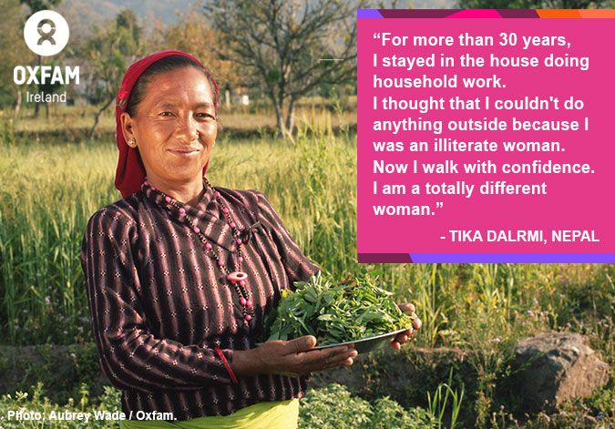 Meet Tika from #Nepal. Your support has enabled her to completely transform her life. Please, REPIN! https://www.oxfamireland.org/blog/changing-attitudes-towards-women-nepal #WomensRights