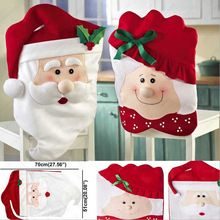 Quality Mr. Mrs Santa Clause Xmas Chair Backs Cover Dining Chair Back Covers  For Christmas