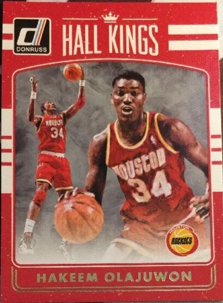 2016-17 Donruss Basketball Hall Kings #18 Hakeem Olajuwon Houston Rockets