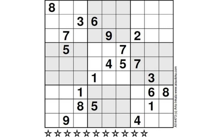 Readers who spend hours grappling in vain with the Telegraph's daily sudoku   puzzles should look away now.