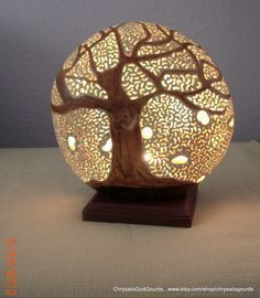 Charming Lyle Is Creating Beautiful Filigree Carved Gourd Luminaries! He Does Have A  Background In Woodcraft And That Is Adding To His Skills As A Gourd Artist.
