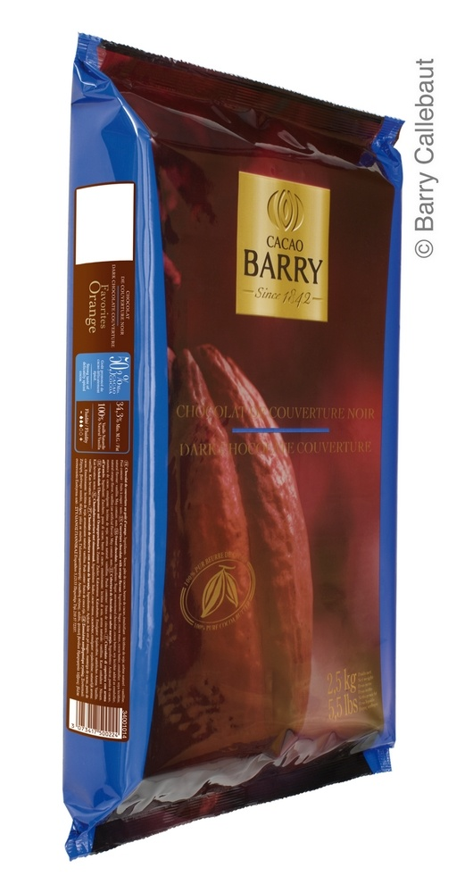 Dark Chocolate Couverture Favorites Orange 2.5kg