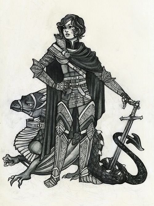 The Digital Sketchbook of Caitlyn Kurilich - The Thurifer, Owler, The Palace Guard, The Archer,...