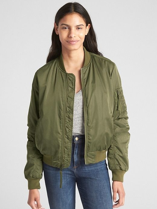 e69100a6b Gap Womens Classic Bomber Jacket Army Jacket Green | Products in ...