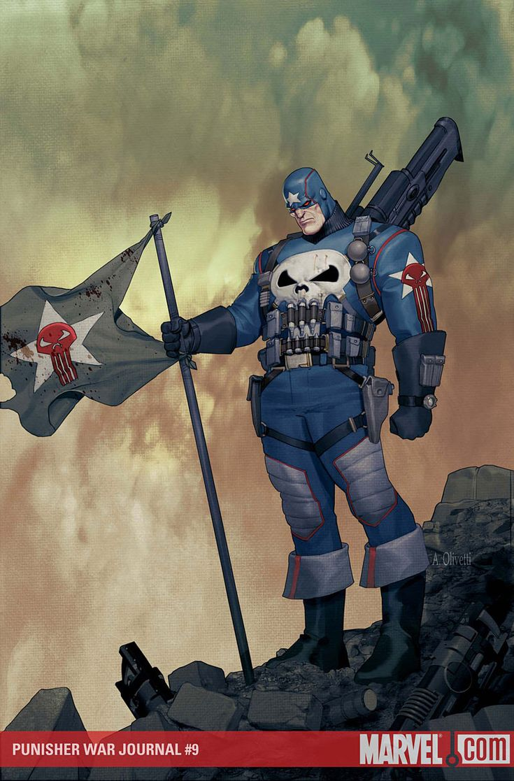 After the death of Captain America The Punisher took his turn keeping the legacy alive.