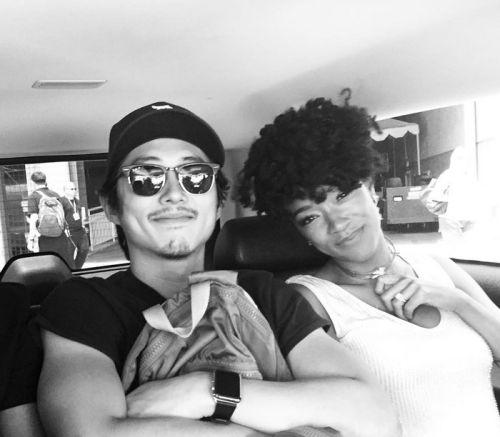 Steven Yeun and Sonequa Martin-Green