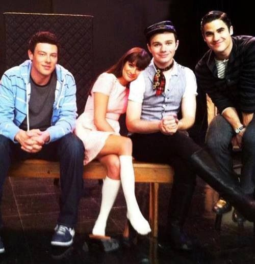 Cory Monteith, Lea Michele, Chris Colfer, and Darren Criss