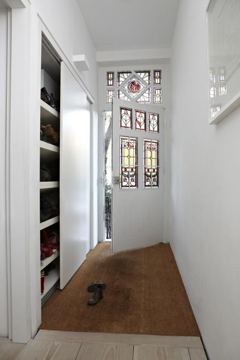 Hall storage is essential to hide footwear, sports equipment and coats. This sliding-door design by James Write of Macdonald Wright Architects hides an impressive shoe collection. The Victorian home was photographed by London-based Irish photographer Graham Atkins- Hughes, whose work includes Abigail Ahern's recent book, Colour. acdonaldwright.com, grahamatkinshughes.com