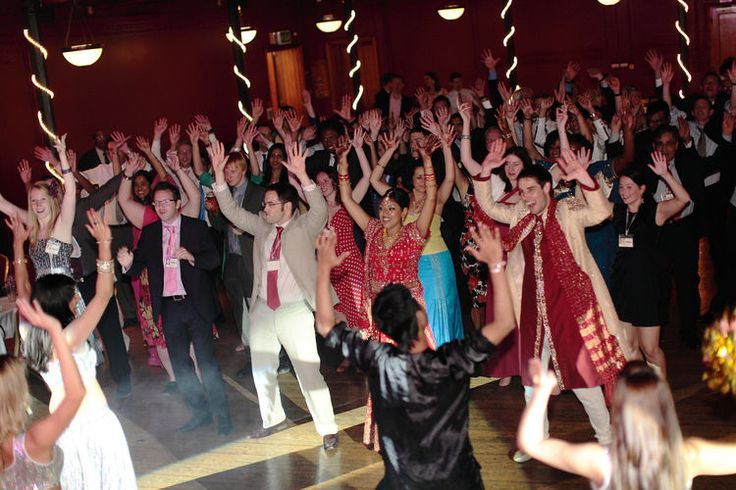 Banghra Indian dance at a UK wedding.