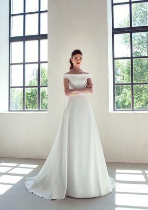 Classic wedding dress ivory white blush boho wedding dress ceremony wedding gown…