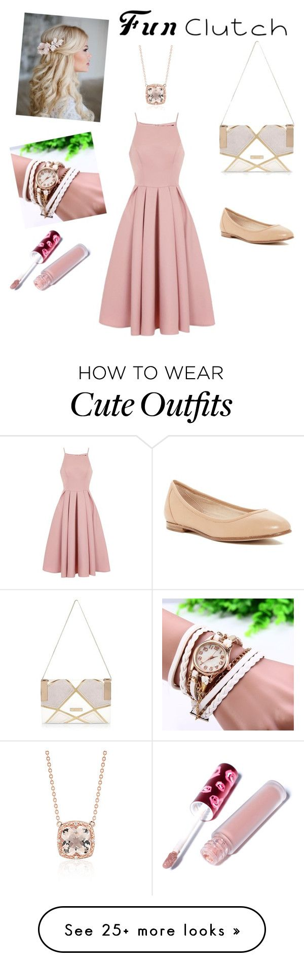 """""""blush pink outfit"""" by apriffle on Polyvore featuring River Island, Chi Chi, Via Spiga, Lime Crime and Blue Nile"""