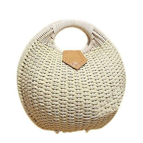 Oferta: 13.44€. Comprar Ofertas de Hrph Nido de caracol bolso de mano de la playa del verano Pequeño Marca bolsos de la paja de la rota bolso de las mujeres Bol barato. ¡Mira las ofertas!