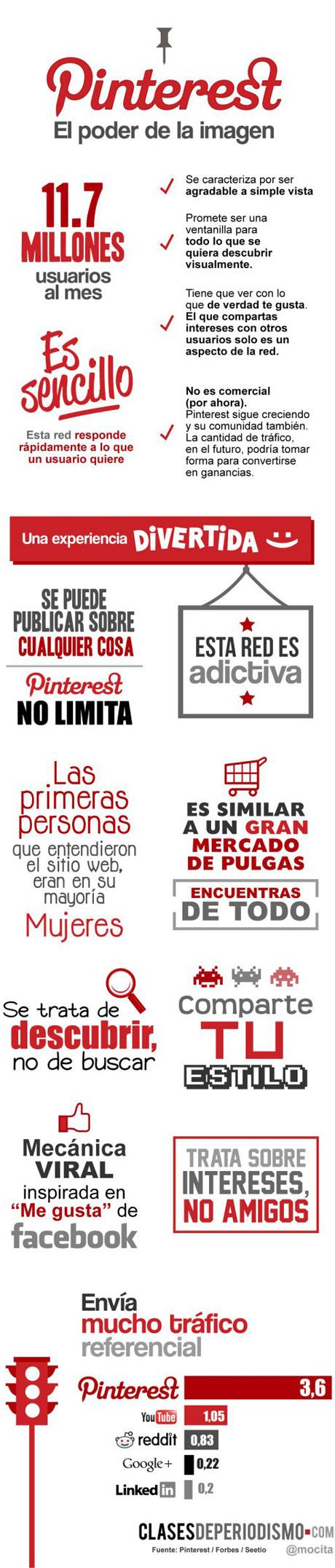 Pinterest: el poder de la imagen #infografia #infographic #socialmedia