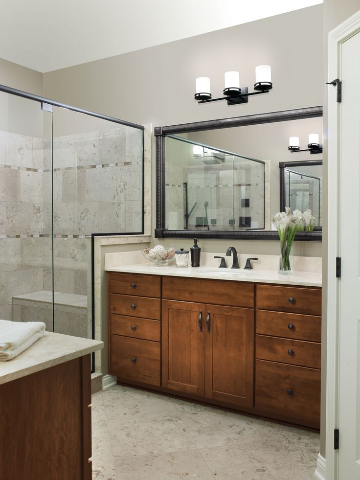 Rustic Bathroom Style See More At Www.cabinetsolutionsusa.com #Cabinets # Bathroom #