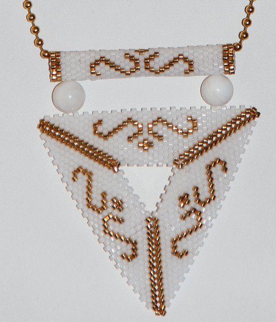Collier triangle de Delica bracelet par ANASIS sur Etsy