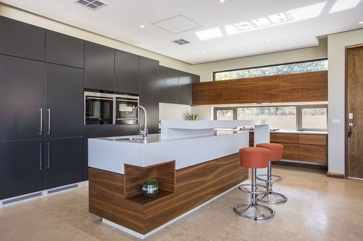 Use Alaska Caesarstone and timber to create this look.  We love the attention to detail. This design is a finalist in the Caesarstone Kitchen Designers 2013 competition. www.caesarstone.co.za