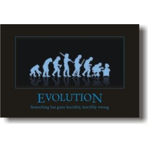 (Evolution - Something Has Gone Horribly, Horribly Wrong - Funny Humor Joke Poster) ... [Click to buy]