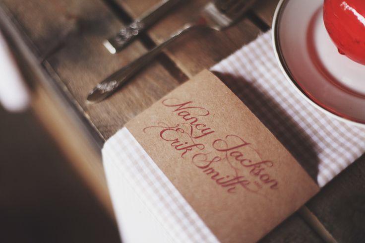 Grafica tovaglioli per matrimonio. | www.princesswedding.it | Photo by Paola Colleoni