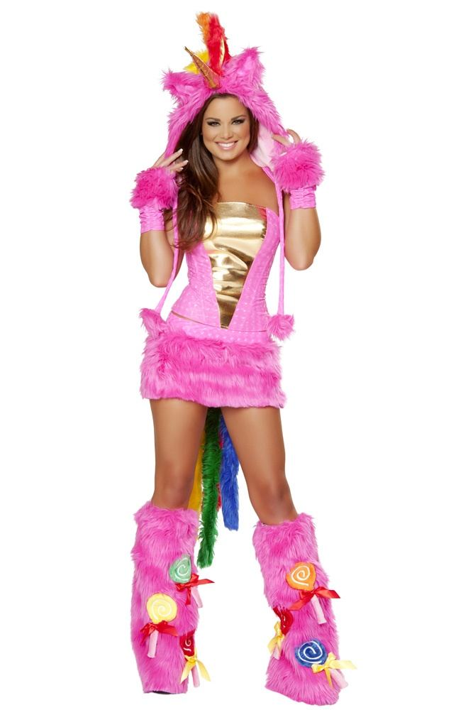 Hot Pink Unicorn Costume FauxFur FurryCostume