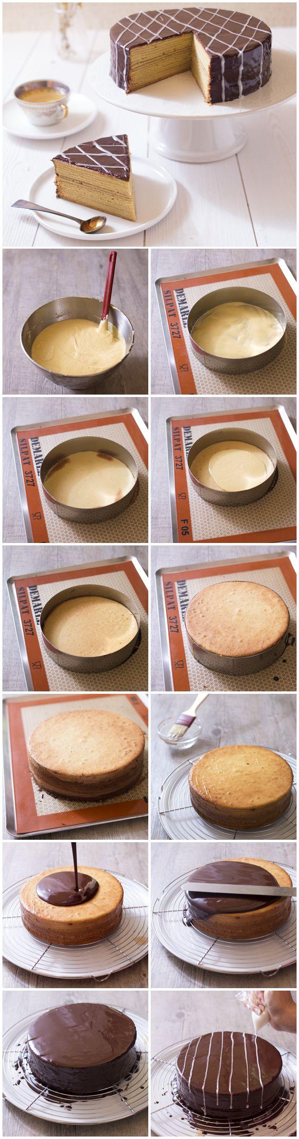 Schichttorte – gâteau à étages allemand