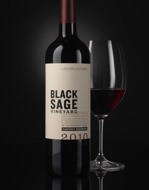 Black Sage Vineyard - Canada Constellation Brands  Wine Label & Package Design  wine / vino mxm