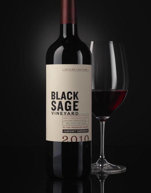 Black Sage Vineyard - Canada Constellation Brands  Wine Label & Package Design  wine / vino mxm