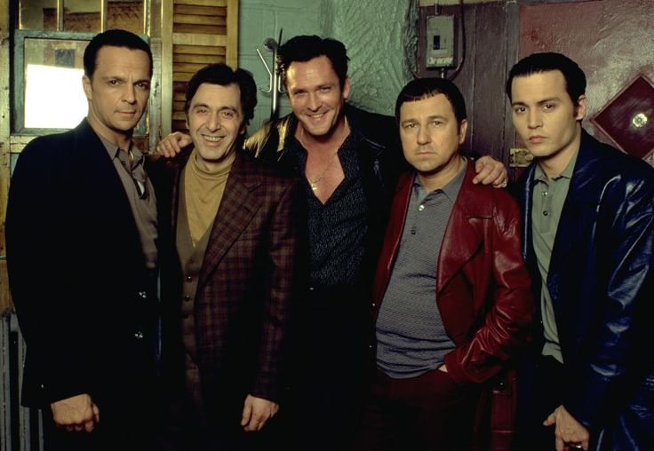 DONNIE BRASCO, James Russo, Al Pacino, Michael Madsen, Bruno Kirby, Johnny Depp, 1997