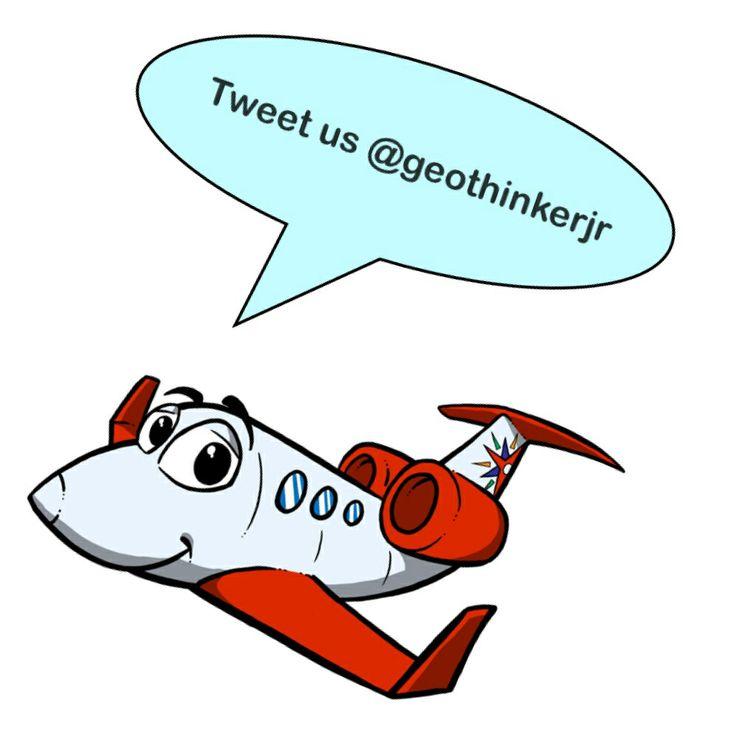 This is Aaron the Geothinker Jr Airplane. Tweet with Geothinker Jr.