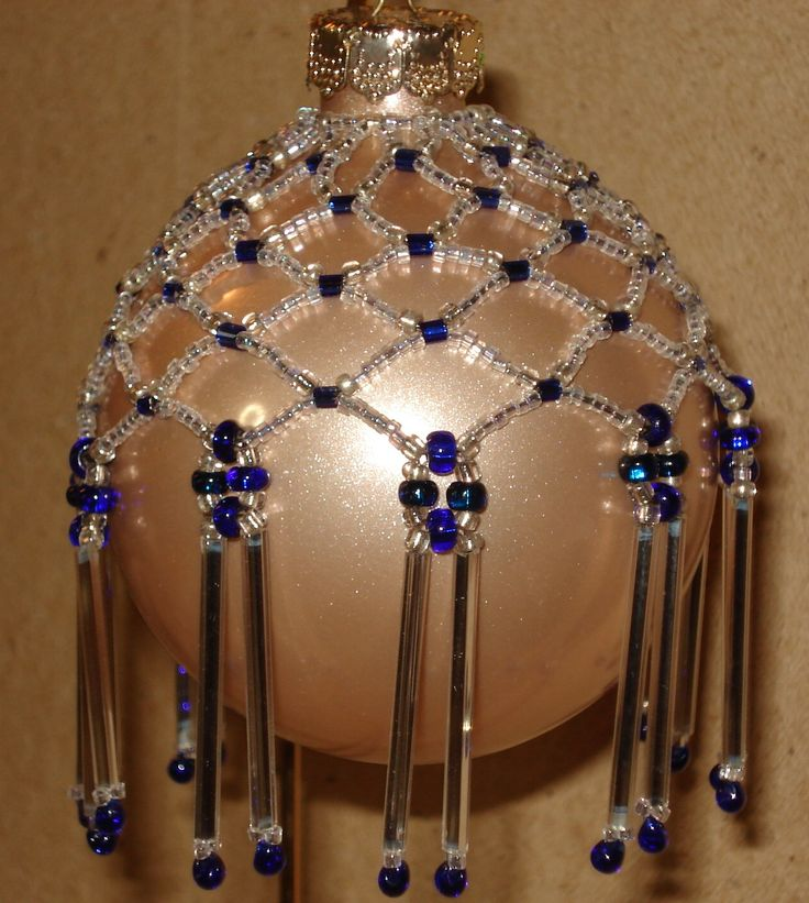 Över idéer om beaded ornament covers på pinterest