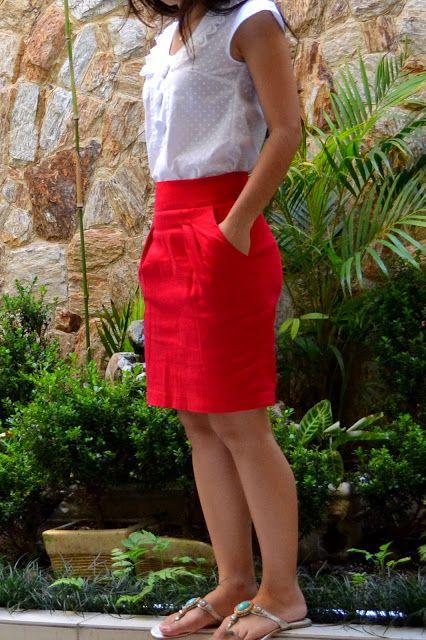 Ponto A Ponto: . Criação: Saia Tulipa 2 + Blusa retrô.