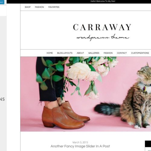 Meet Carraway, A Modern Blogging Template for Fashion, Lifestyle, and Other Bloggers by Angie Makes. This Customizable Wordpress Theme Has Tons of Options!