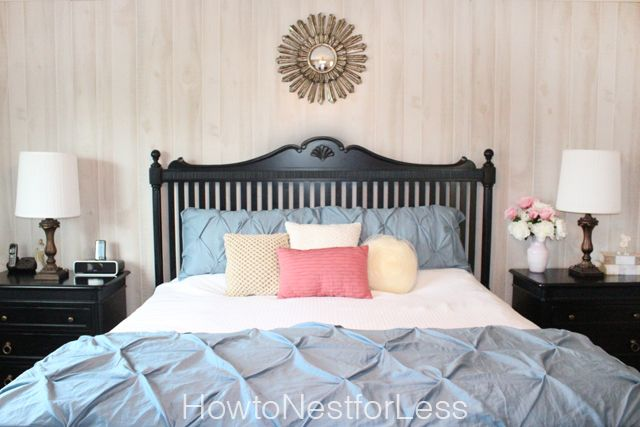 Master Bedroom Makeover from How to Nest for Less - I am loving her bedding choices!