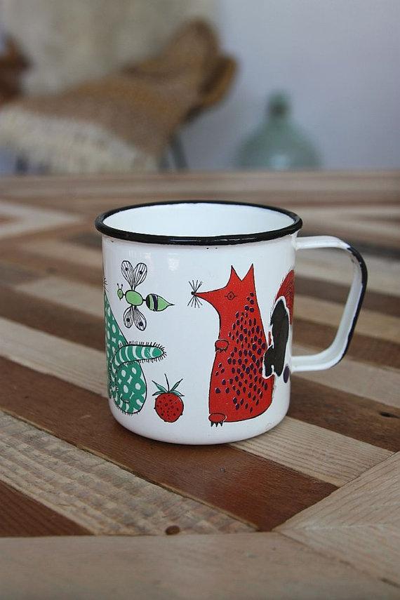 Kaj Franck Finel enamel fox mug. So cute!