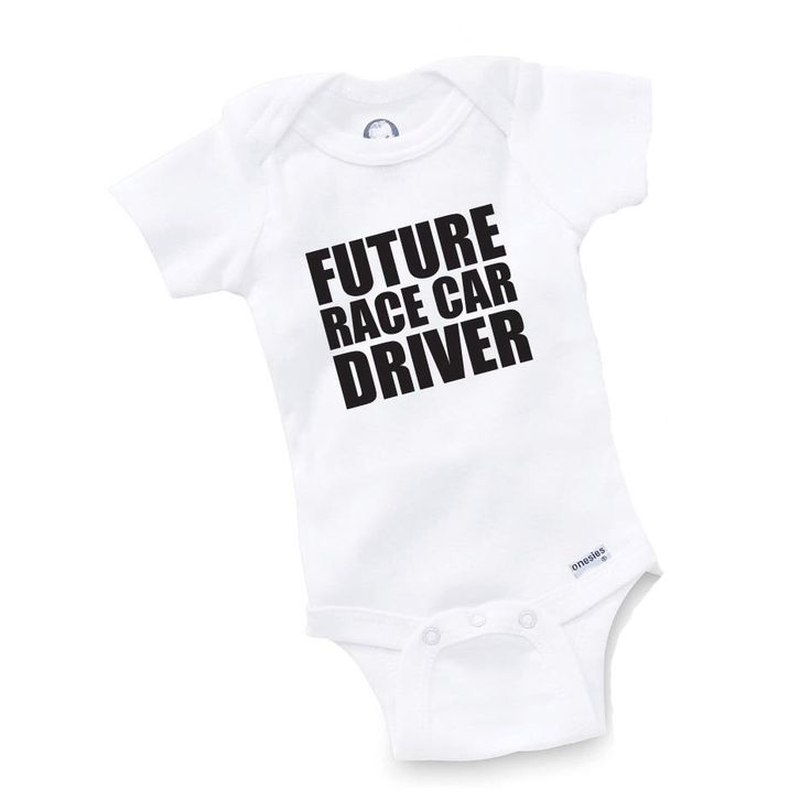 Future Race Car Driver Onesie Bodysuit Baby Shower Gift Funny Geek Nerd Cute Racing Racer Truck by GopherKidz on Etsy https://www.etsy.com/listing/152840135/future-race-car-driver-onesie-bodysuit