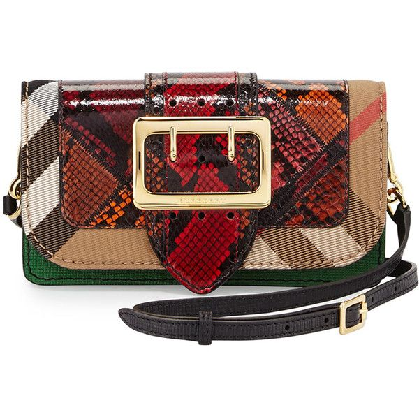 Burberry Micheldever Patchwork Check Snakeskin Shoulder Bag ($2,495) ❤ liked on Polyvore featuring bags, handbags, shoulder bags, handbags shoulder bags, python print, hand bags, man shoulder bag, patchwork purse, handbag purse and burberry handbags