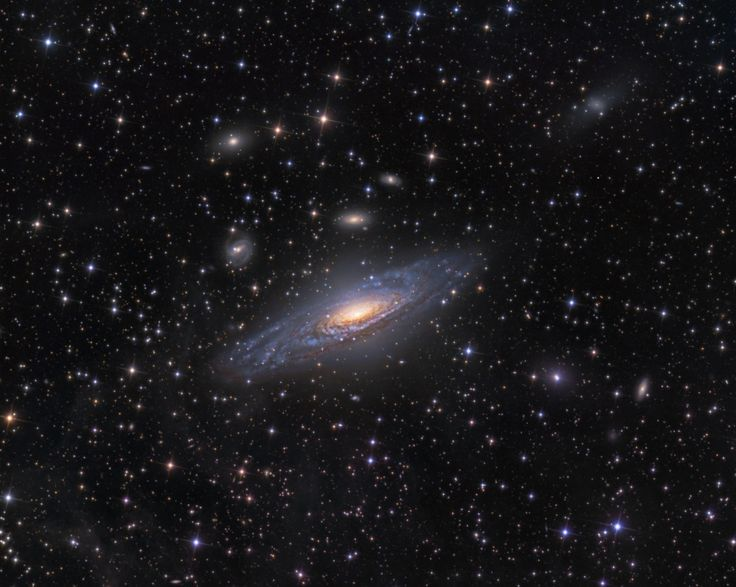 Big, beautiful spiral galaxy NGC 7331 is often touted as an analog to our own Milky Way. About 50 million light-years distant in the northern constellation Pegasus, NGC 7331 was recognized early on as a spiral nebula.