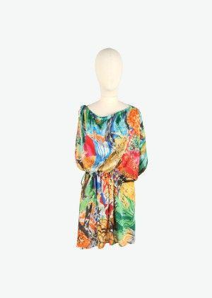 Multicolor sea bottom silk dress - Tsumori Chisato e-store | Tsumori Chisato E-store