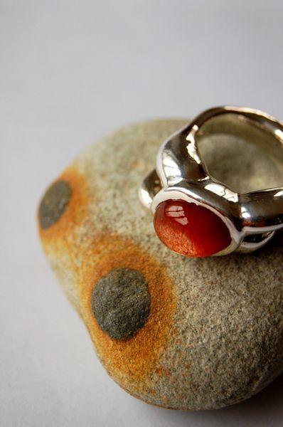Sunring - silver, sunstone