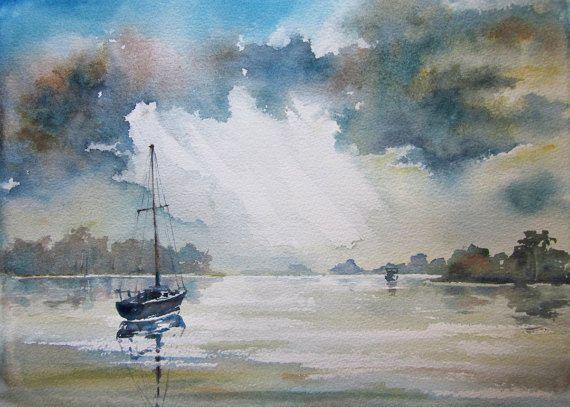 Berowra Waters  Sydney  Original Watercolor by AustraliaArt