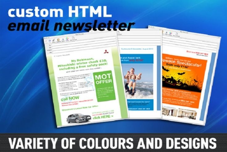 Custom HTML Email Newsletter for your Email Marketing.