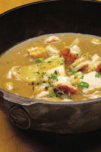 Cajun Shrimp Stew with Garlic, Cayenne, and Potatoes....