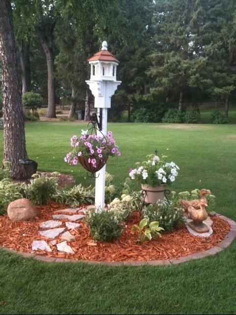 Small Amish Poly Hexagon Bird Feeder   Garden yard ideas ... on Birds Backyard Landscapes id=28291